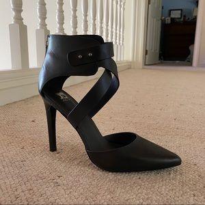 Joe's Jeans Black Leather Stiletto Heel
